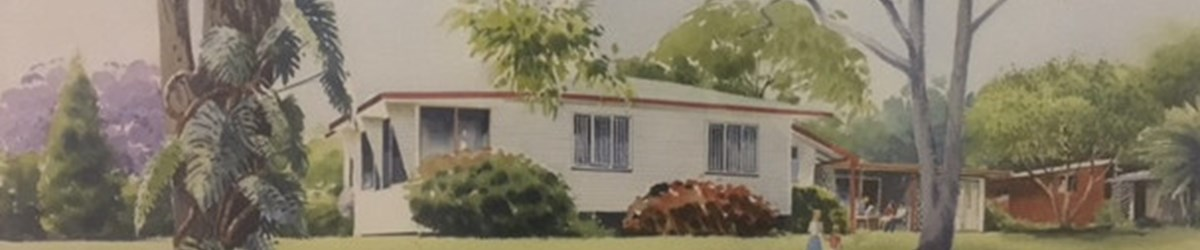 A painting of the original Tyack Health located in Wynnum West